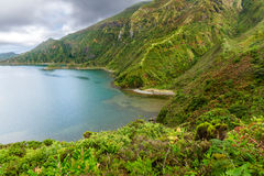 Lagoa do Fogo, a volcanic lake in Sao Miguel, Azores Royalty Free Stock Image