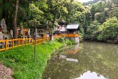 Lagoa do ike da canela do inari de Fushimi foto de stock