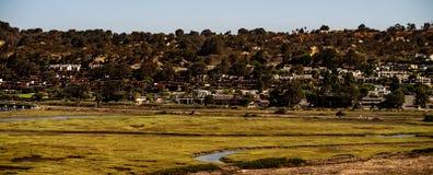 Lagoa do Los Penasquitos em Torrey Pines State Beach Near La Jolla, Califórnia Imagem de Stock