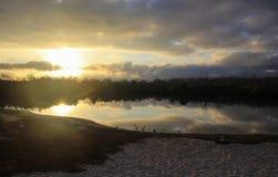 Lagoa do nascer do sol Imagens de Stock Royalty Free