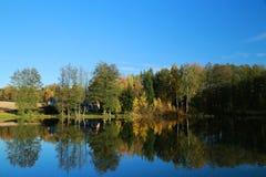 Lagoa do outono Foto de Stock Royalty Free