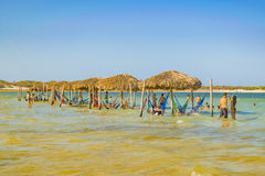 Lagoa do Paraiso Jericoacoara Brazilië royalty-vrije stock foto's