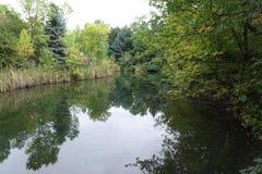 Lagoa do parque de Boise City, Idaho Imagens de Stock Royalty Free