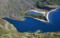Lagoa doet fogo, de Azoren Royalty-vrije Stock Foto's