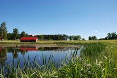 Lagoa e casa fotos de stock royalty free