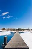 Lagoa e passeio Imagem de Stock
