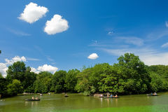 Lagoa em Central Park Imagem de Stock