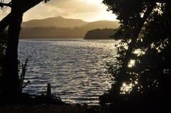 A lagoa em Christiansted, St Croix imagem de stock