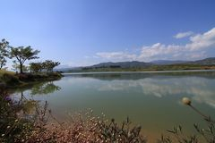 Lagoa em Tailândia Fotografia de Stock