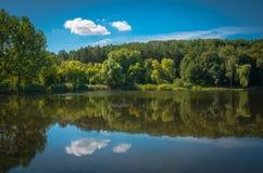 Lagoa em um dia ensolarado Imagens de Stock