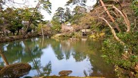Lagoa em um parque foto de stock
