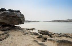 Lagoa emeral bonita da cor em uma garganta de Sam Pun Bok em Ubonra Foto de Stock Royalty Free