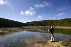 Lagoa fa Can?rio Fotografia Stock Libera da Diritti