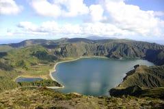 Lagoa fa Fogo (laguna di fuoco), San Miguel, Azzorre Fotografia Stock Libera da Diritti