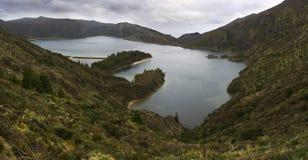 Lagoa fa Fogo, sao Miguel, Azzorre Fotografie Stock