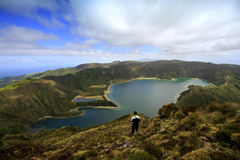 Lagoa font Fogo Photo stock