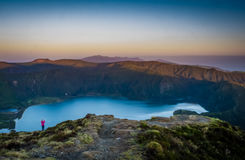 Lagoa font Fogo Photos stock