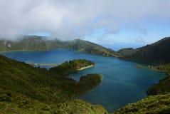 Lagoa font Fogo (lagune d'incendie), San Miguel, Açores Image stock