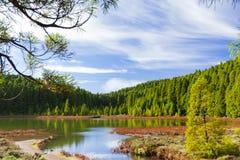 Lagoa font/lacs Canario, Açores, Portugal Photographie stock libre de droits