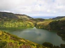 Lagoa Funda, isola di Flores Fotografie Stock Libere da Diritti