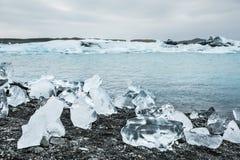 Lagoa Glacial de Jokulsarlon, Islândia Imagens de Stock Royalty Free