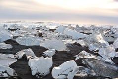 Lagoa glacial do sul de Islândia Imagem de Stock