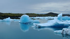 Lagoa glaciar de Jokulsarlon Foto de Stock Royalty Free
