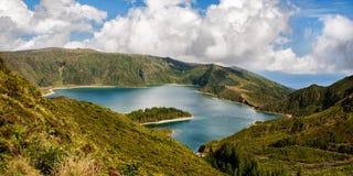 Lagoa gör Fogo Arkivbilder