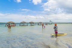 Lagoa hace Paraiso Jericoacoara el Brasil Fotos de archivo libres de regalías