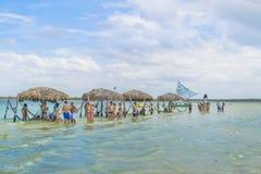 Lagoa hace Paraiso Jericoacoara el Brasil Fotografía de archivo