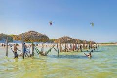 Lagoa hace Paraiso Jericoacoara el Brasil Imagenes de archivo