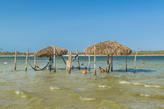 Lagoa hace Paraiso Jericoacoara el Brasil Fotos de archivo