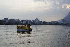 Lagoa jezioro jest rekreacyjnym centrum dla brazilians i turystów Fotografia Stock