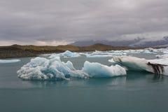 Lagoa Jokulsarlon da geleira Fotos de Stock