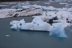 Lagoa Jokulsarlon da geleira Imagem de Stock