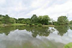 Lagoa Kanjizaio-em ruínas, Hiraizumi do ike de Maizuru GA imagem de stock royalty free