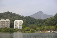 Lagoa lake is the recreational center for brazilians and tourists. Royalty Free Stock Image