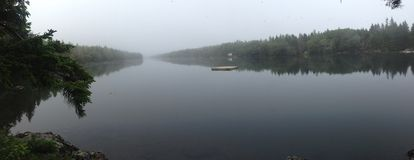 Lagoa longa panorâmico Fotografia de Stock Royalty Free