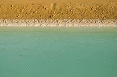Lagoa mineral no Inoperante-Mar Foto de Stock