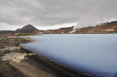 Lagoa morna azul em Islândia Imagem de Stock Royalty Free