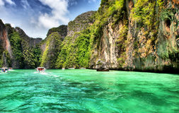 Lagoa na phi da phi do Koh, Tailândia. Foto de Stock