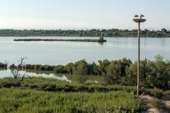 A lagoa na rota do canal de Catalonia Fotos de Stock