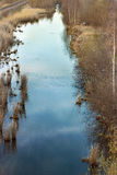 Lagoa natural com reflexão do céu na água Imagem de Stock Royalty Free