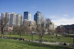 Lagoa no jardim da terra comum de Boston Imagem de Stock Royalty Free