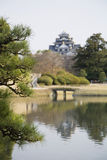 Lagoa no jardim de Korakuen em Okayama Imagem de Stock