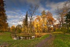 Lagoa no outono Imagens de Stock Royalty Free