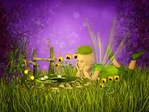 Lagoa pequena mágica Fotografia de Stock Royalty Free