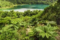 Lagoa-Poas azul fotografia de stock
