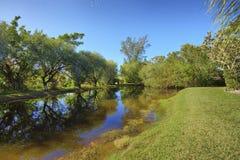 Lagoa privada da ilha de Sanibel com reflexão Imagens de Stock