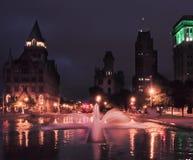 Lagoa refletindo na noite fotografia de stock royalty free
